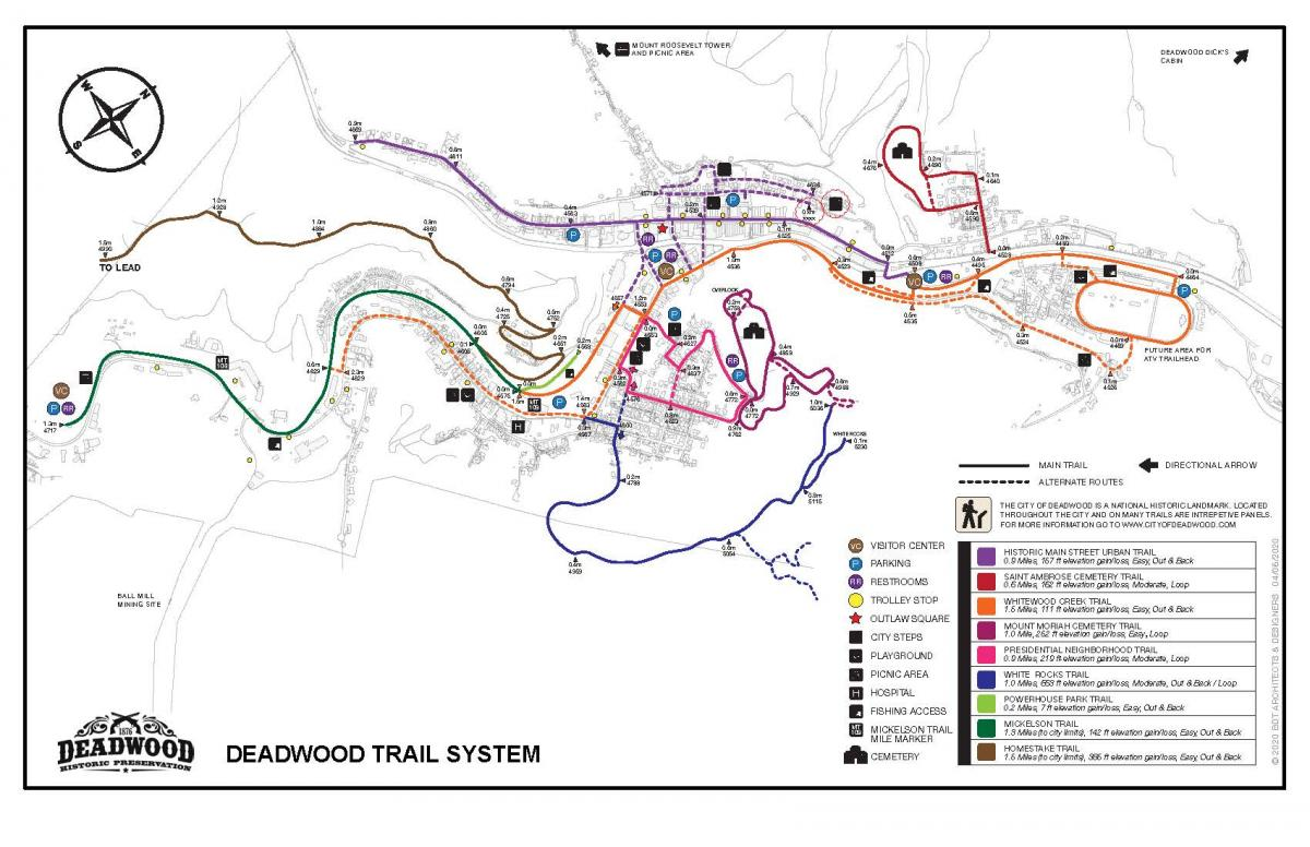 Deadwood Trail System Map